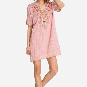 Johnny Was Workshop Embroidered Tunic Dress Pink S